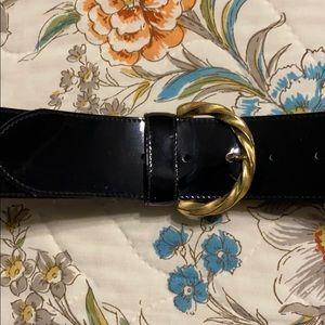 Women's XL patent leather belt